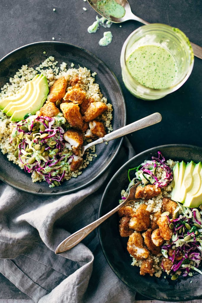 Spicy Fish Taco Bowls With Cilantro-Lime Slaw