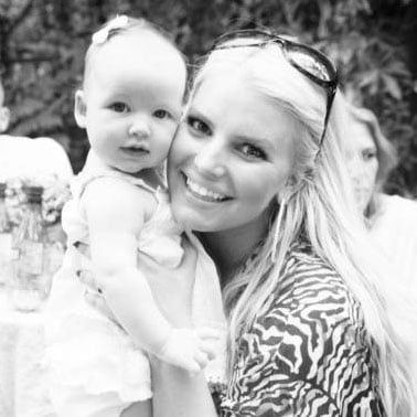 Jessica Simpson and Maxwell at Eric's 33rd Birthday Party