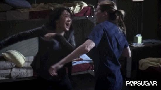 Best Dance Party as an Exit: Sandra Oh and Ellen Pompeo, Grey's Anatomy