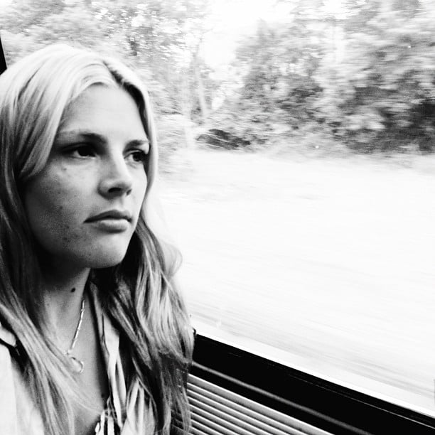 Busy Philipps struck a pose during a train ride from Baltimore to NYC. Source: Instagram user busyphilipps