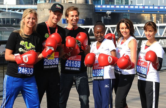 Photos of 2010 London Marathon Celebrity Runners Natalie Imbruglia, Michelle Heaton, Sam Branson, Holly Branson