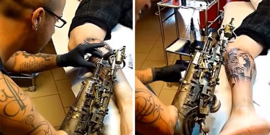 Artist With One Arm Inks Clients With Tattoo Gun Prosthetic
