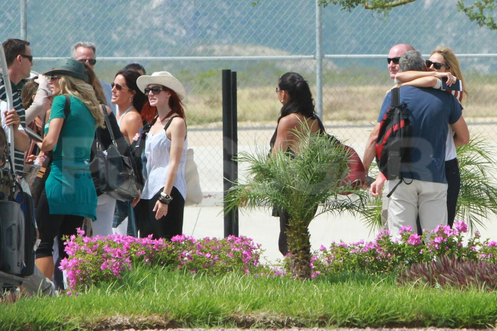George Clooney and Stacy Keibler vacationed with friends in Mexico.