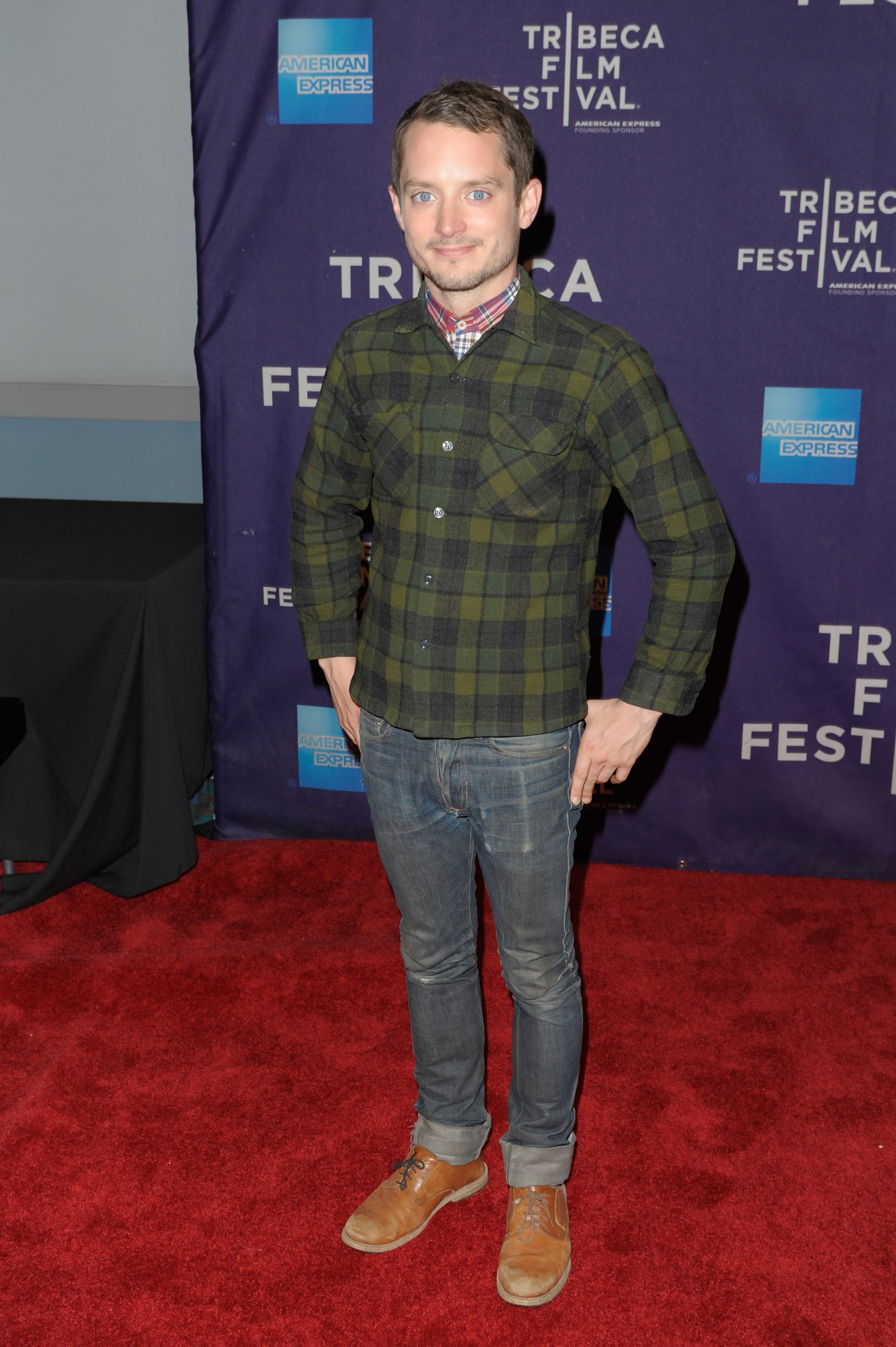 Elijah Wood promoted his project Set Up, Punch.