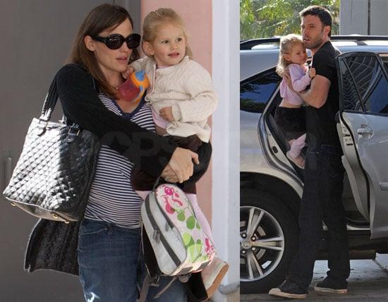 Photos of Ben Affleck and Jennifer Garner Bringing Violet to School in LA