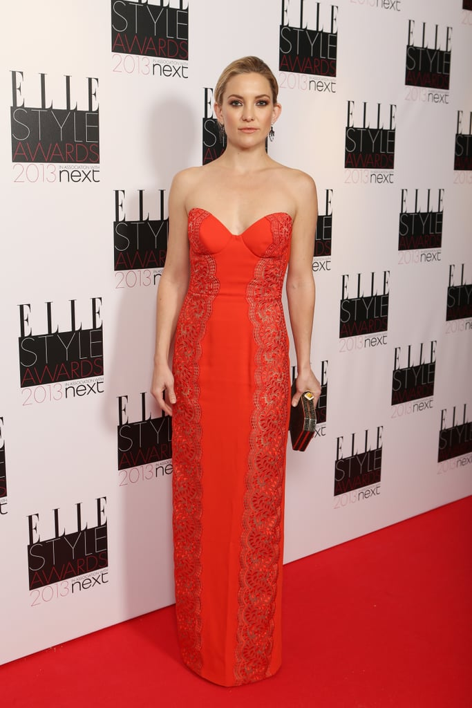 Kate Hudson posed in an embroidered Stella McCartney gown.