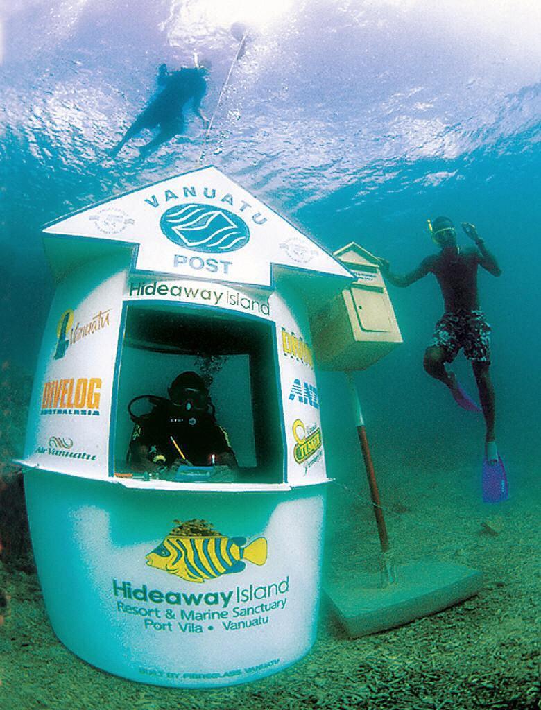 Vanuatu's underwater Post Office.