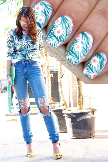 This Tropical Nail Art DIY Was Inspired by a Sweatshirt!