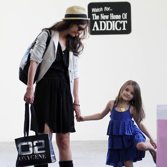 Katie Holmes and Suri Cruise Pictures Shopping in Florida at Bal Harbour