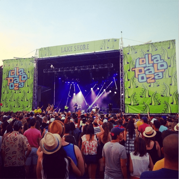 Fedoras filled the field outside one of the festival's biggest stages. Source: Instagram user POPSUGARFashion