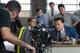Leonardo DiCaprio and Jonah Hill on the set.