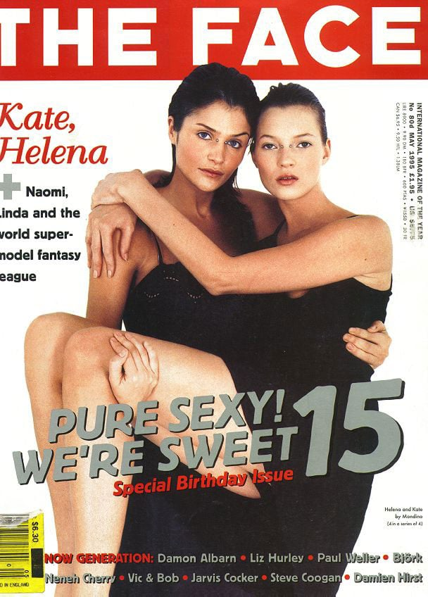 May 1995: Helena Christensen and Kate Moss