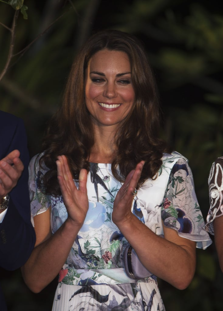 Prince William and Kate Toast With Water at a Singapore Reception
