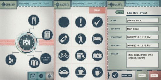 Diacarta Calendar App