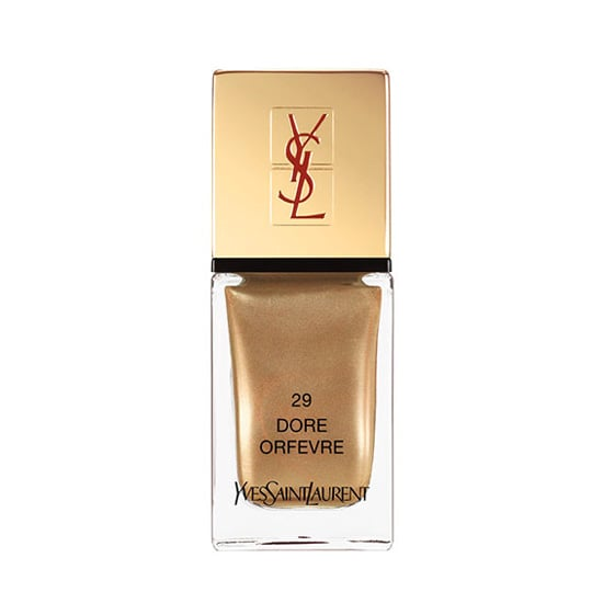 No metallic is as classic as rich gold. Polish on YSL La Laque in Dore Orfevre ($25) for a gorgeously gilded finish.