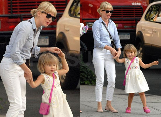 Photos of Michelle Williams and Matilda Ledger in New York