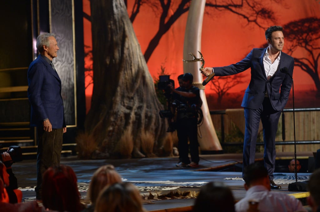 Ben Affleck praised Clint Eastwood during his acceptance speech.