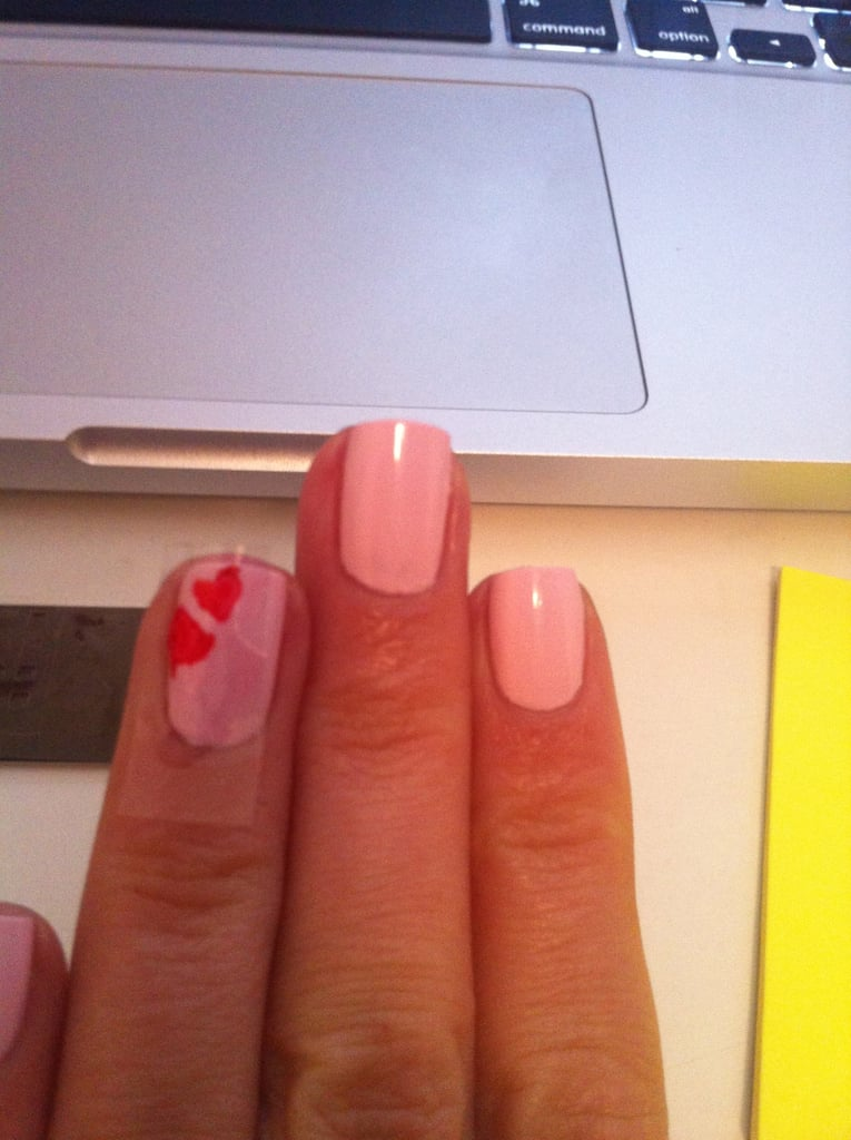 I tried the little love hearts first but they bled so I removed.
