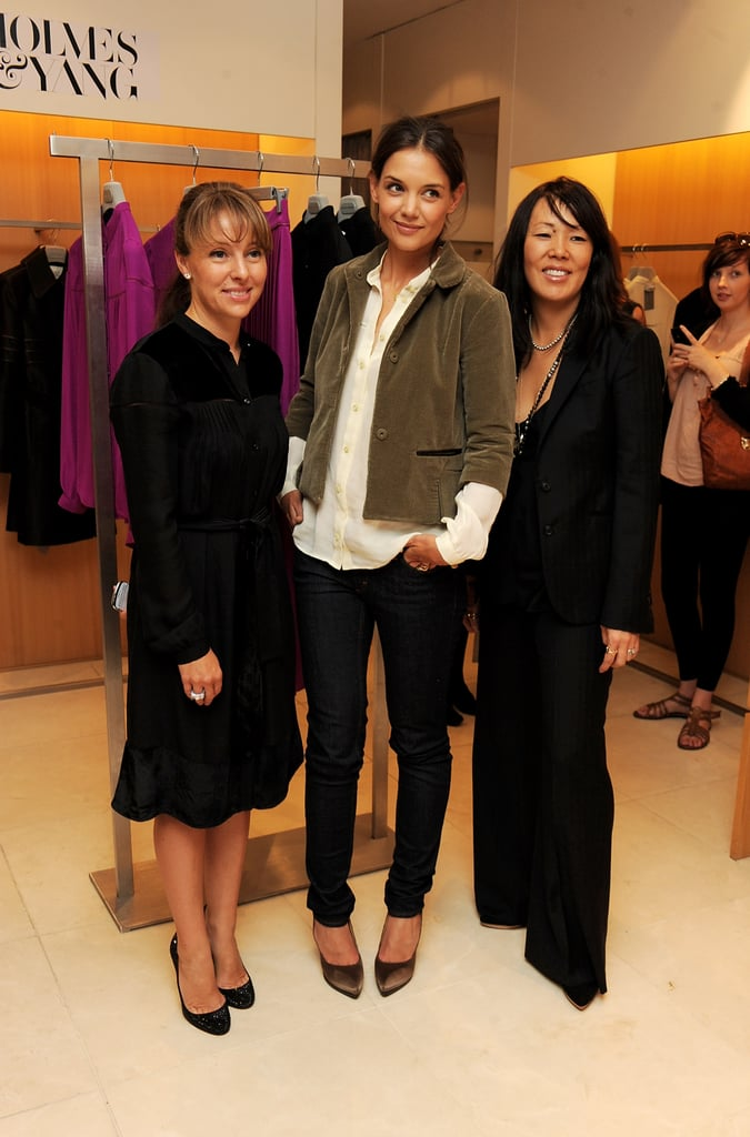 Katie Holmes and Jeanne Yang appeared in London together.