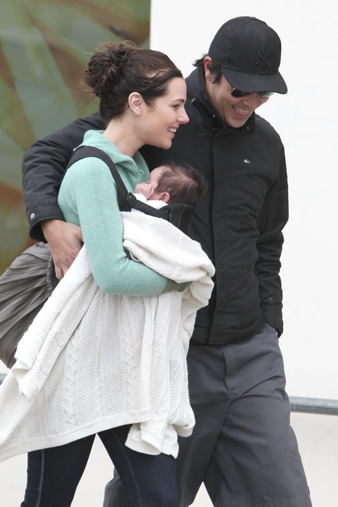 Jessica Marais and James Stewart Take Baby Scout Shopping in Sydney