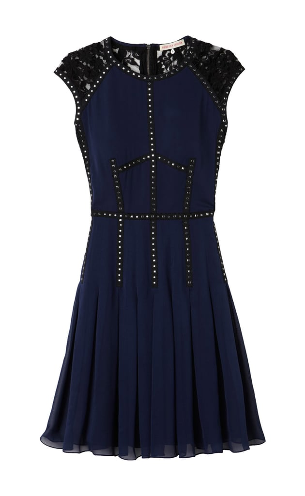 Rebecca Taylor toughens up the dainty cocktail dress ($495) with stud detailing around the bodice.