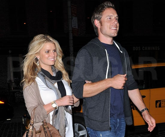 Slide Picture of Jessica Simpson and Eric Johnson Leaving Dos Caminos in NYC