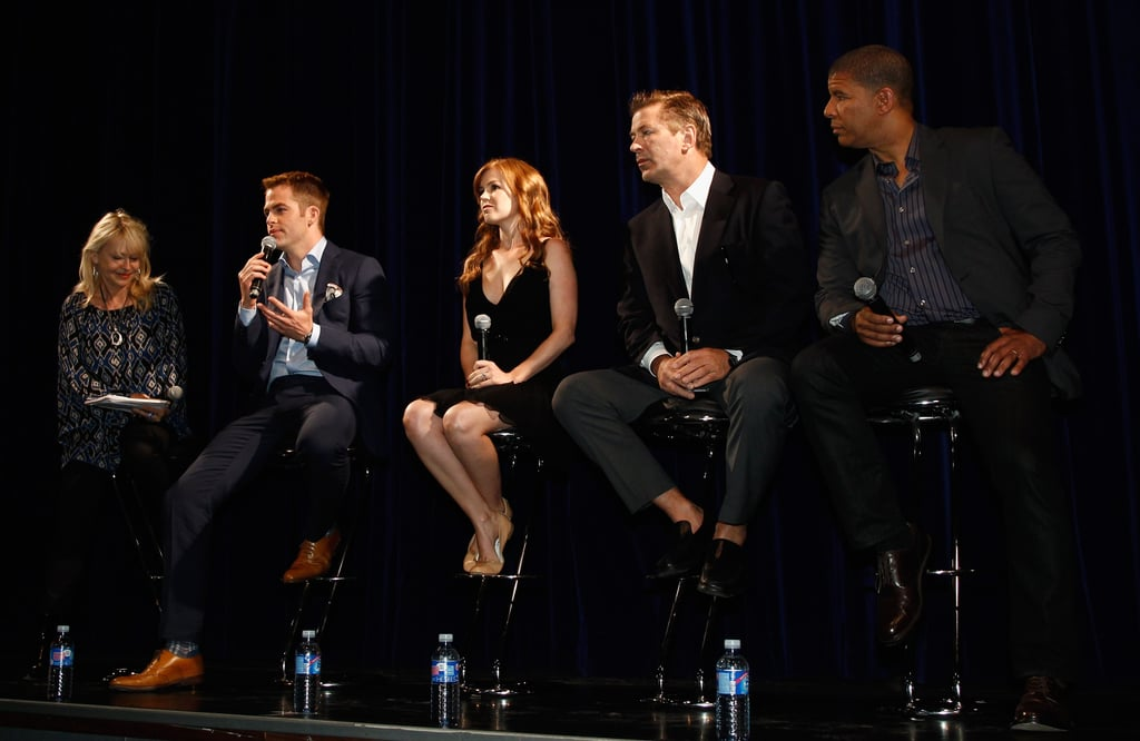 The cast fielded questions from the press.
