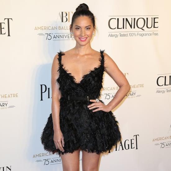 Olivia Munn Wearing Black Swan Lanvin Dress at the Ballet