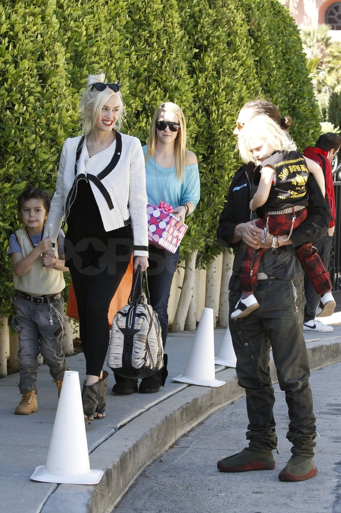 Gwen, Gavin, Zuma, and Kingston Split Their Weekend Between Parties and the Park