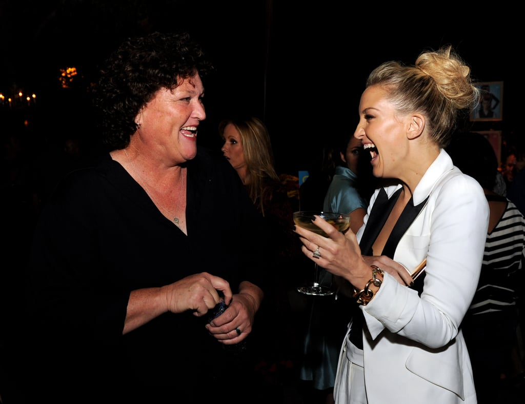 Kate Hudson and Dot Marie Jones chatted inside the party.
