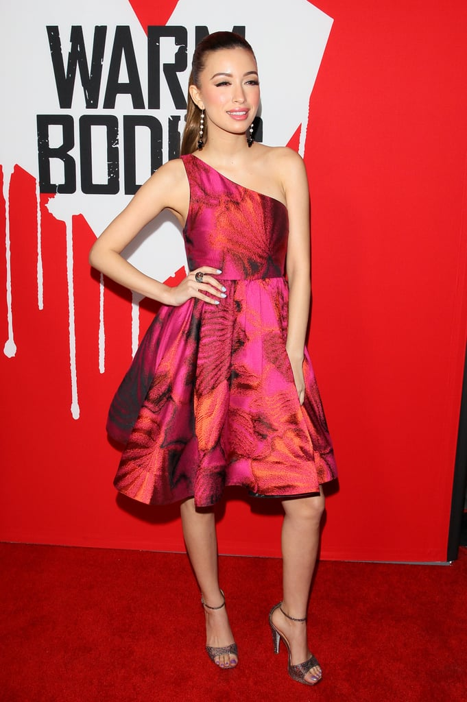 Christian Serratos worked the red carpet.