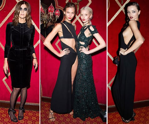 Pictures of Celebrities and Models at Carine Roitfeld's Irreverent Book Launch: Anja Rubik, Karlie Kloss & more Go Glam-Goth!