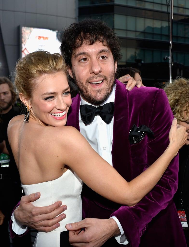 Beth hugged her costar Jonathan Kite.