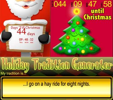 Add Christmas Countdown Widgets