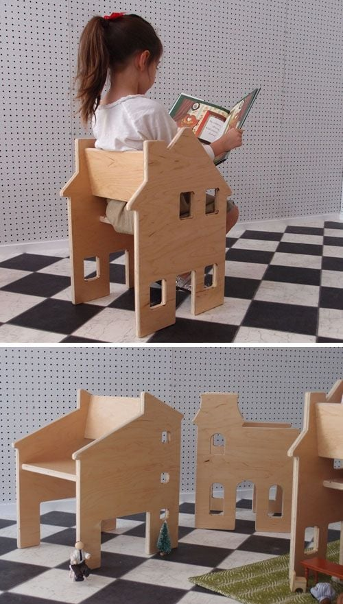 A Chair That's Also a Dollhouse