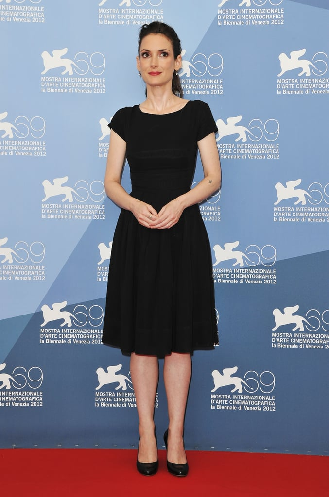 Winona Ryder pulled off a simple black dress at the Ice Man premiere.