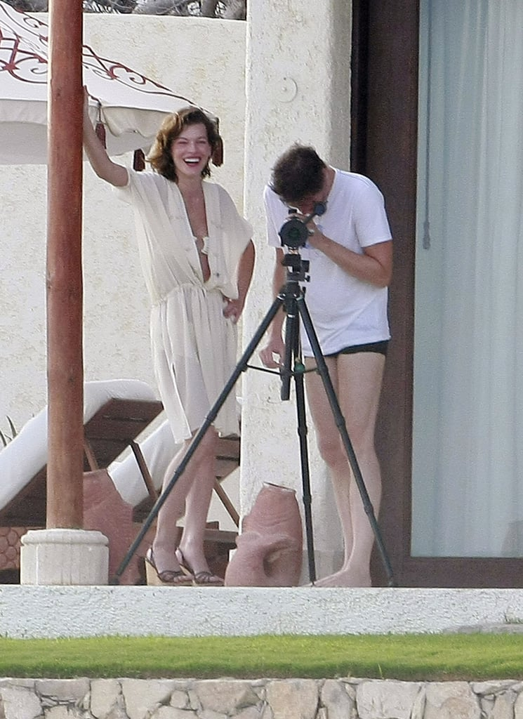 Milla Jovovich and her husband, Paul W.S. Anderson, checked out the view in August 2011.