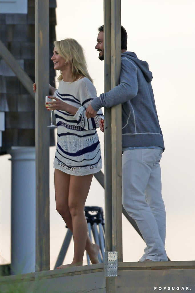Cameron Diaz Flaunts Her Long Legs While Filming a Flirty Scene