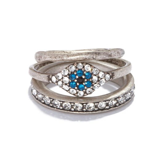 The most glamorous way to wear the evil eye might just be with this Rachel Roy Evil Eye stacked ring set ($32).