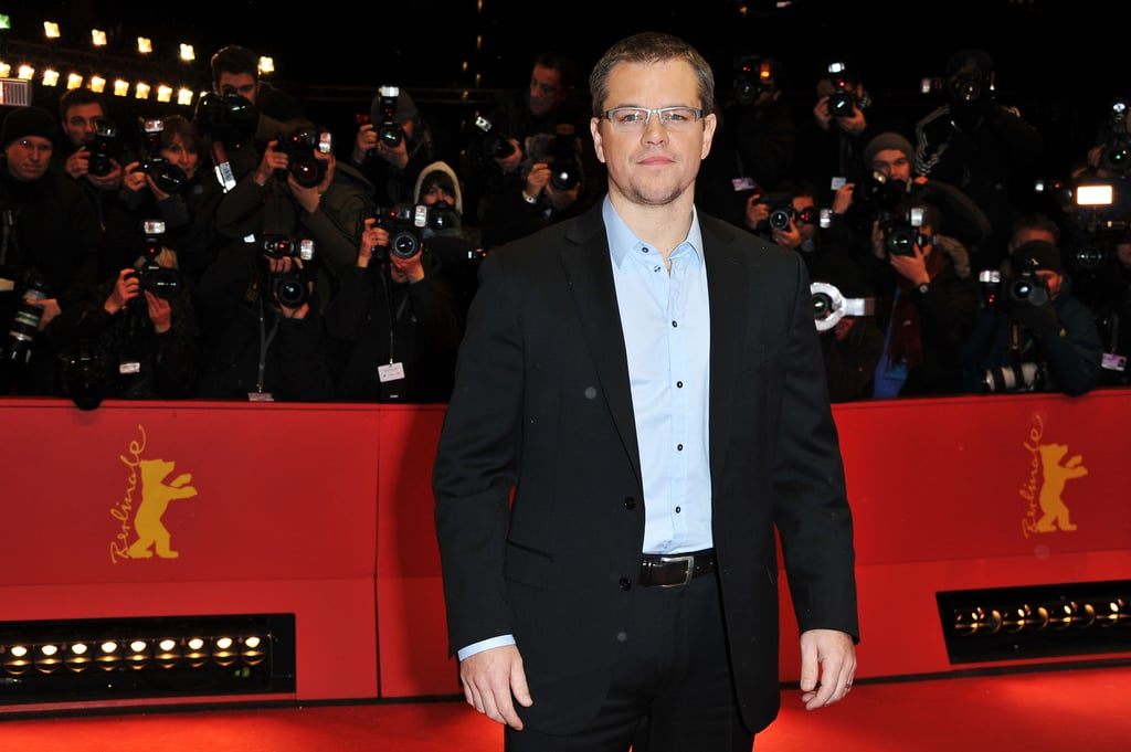 Matt Damon Snaps Away on the Red Carpet With John Krasinski