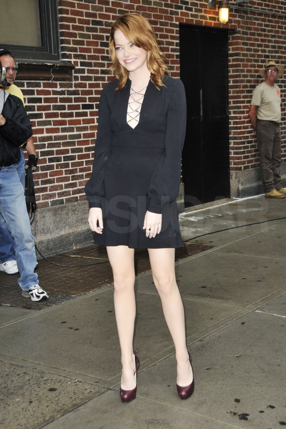 Emma sported hot Brian Atwood pumps.