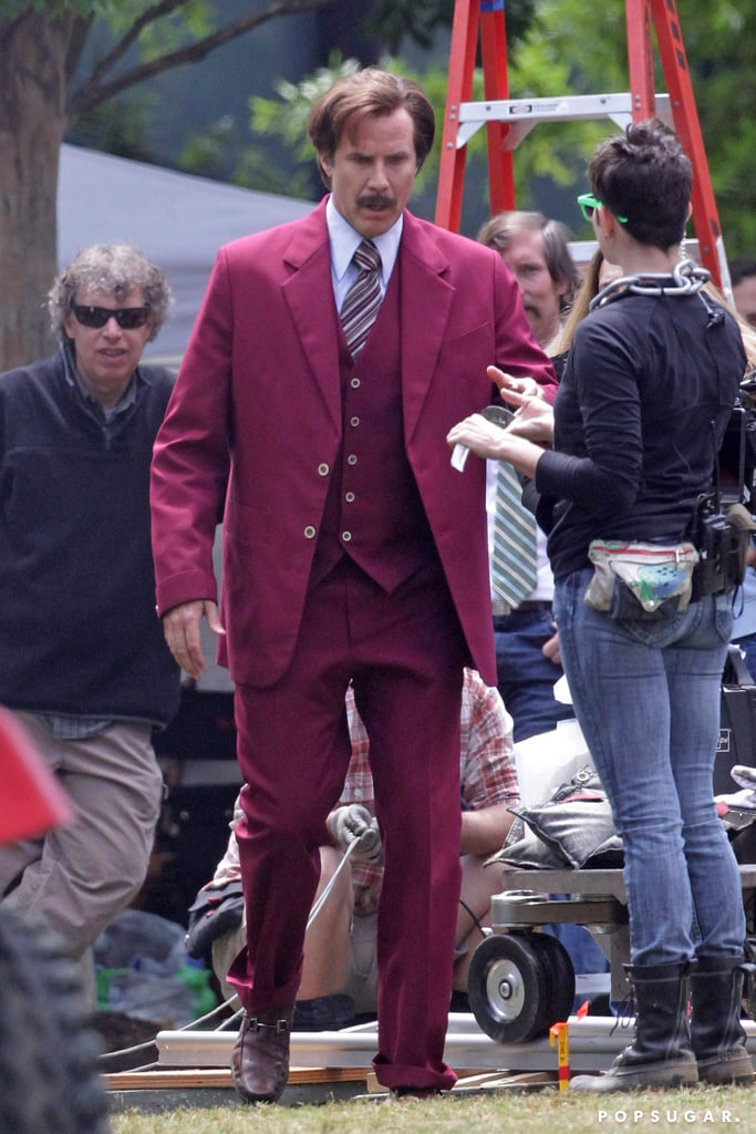 Will Ferrell filmed a scene for Anchorman 2.