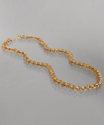 Amber Glass Link Necklace, Was $83, Now $74.99 Bluefly