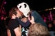 ChkChkChk got a kiss from a fan at Falls Festival in Lorne, Australia.