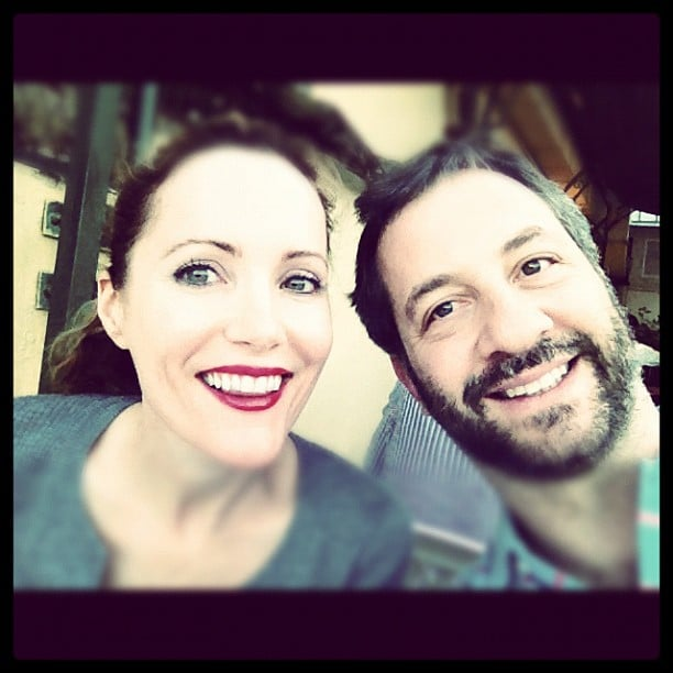 Maude Apatow snapped a photo of her parents, Leslie Mann and Judd Apatow. Source: Instagram user maude_apatow