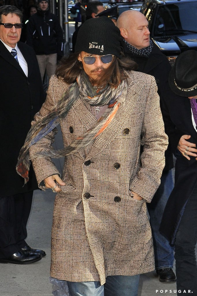 Johnny Depp Stops by the Late Show Following the Release of a New Record
