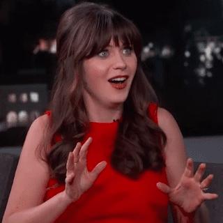 Zooey Deschanel on Jimmy Kimmel Live   March 27, 2015