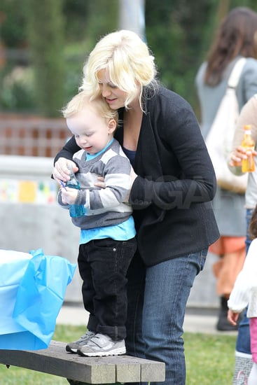 Pictures of Amy Poehler and Archie Arnett Attending a Birthday Party in LA