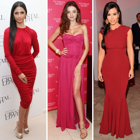 Celebs Show Up in Berry Sexy Dresses — Who Is Your Favorite?