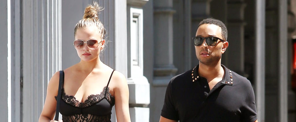 Chrissy Teigen's Lacy Bra Top Will Convince You to Buy 1 of Your Own